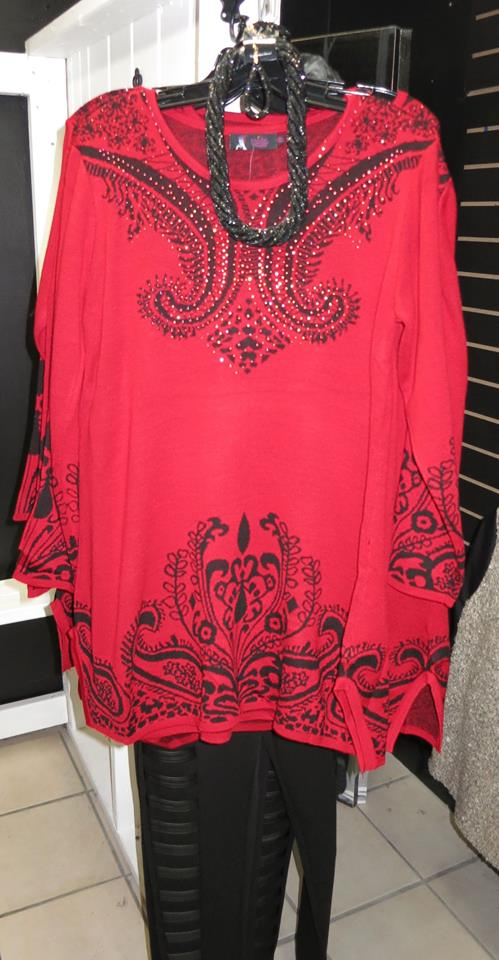 Red Bling Top