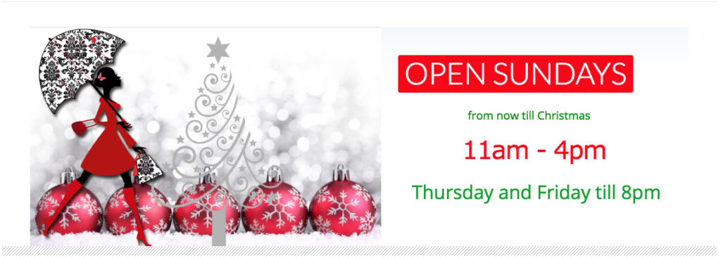 Open Sundays Till Christmas